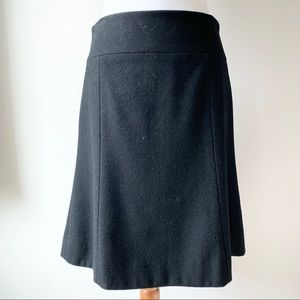 J. Crew Black Wool Skirt Size 4